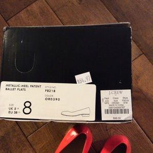 J. Crew Shoes - J Crew Patent Ballet Flats size 8